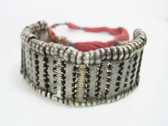 Rare Flexible Silver Indian Bracelet from Rajastha
