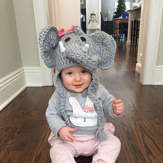 baby elefanten baby elefanten baby hut elefant kost m etsy. Black Bedroom Furniture Sets. Home Design Ideas