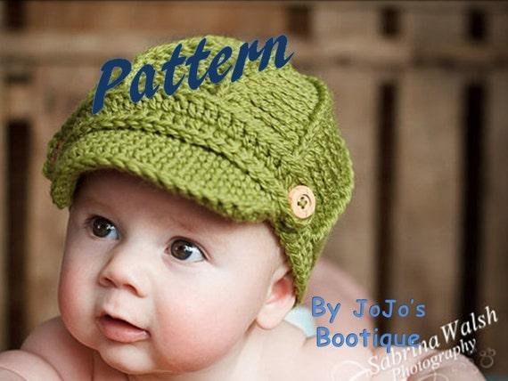 New Pdf Newsboy Hat Pattern With Toddler Sizes Baby Newsboy Etsy