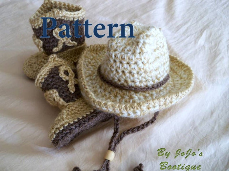 Crochet Baby Cowboy Hat And Boots Patterns Baby Cowboy Hat Etsy