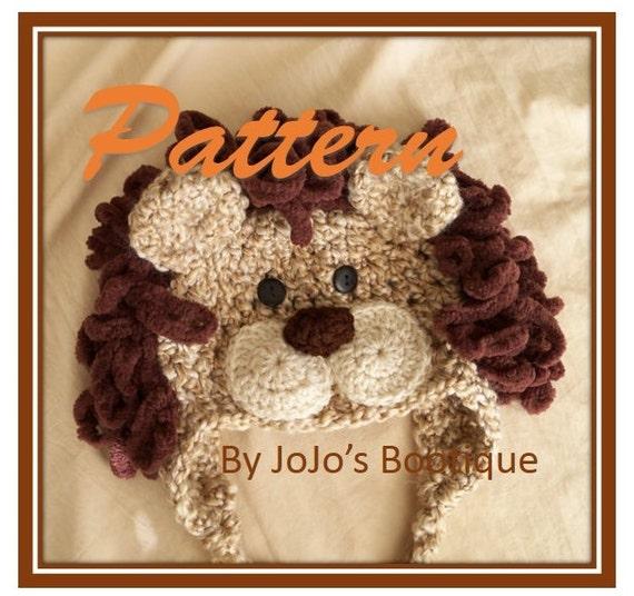 PDF Baby Lion Hat PATTERN Baby Lion Hat Crochet Pattern  6b6ed24b63d