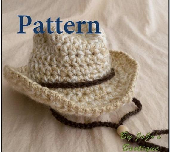 PDF Baby Cowboy Hat PATTERN -Baby Cowboy Hat - Fedora Hat - Safari Hat  -Instant Download-by JoJosBootique 217689161b7