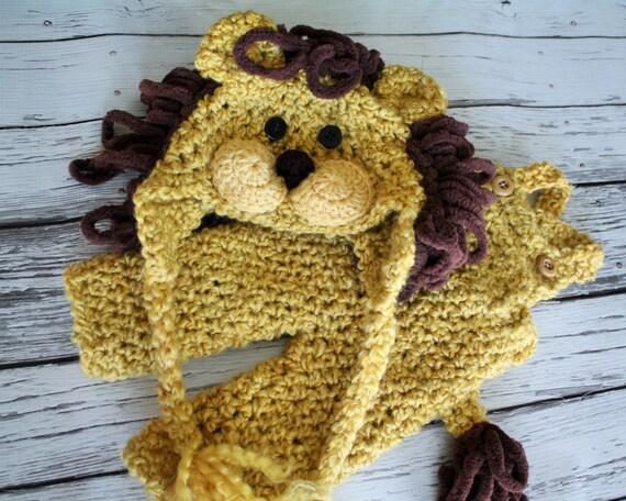 Chapeau bébé Lion Costume - chapeau de Lion et une salopette Set - Lion Hat - Halloween bébé Costume Set - Lion - par JoJosBootique