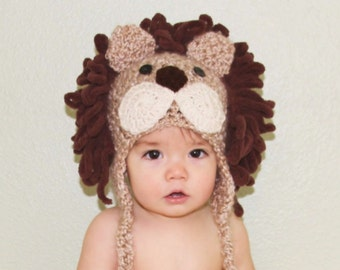 Toddler Lion Hat - Baby Lion Hat - Boy Lion Costume Hat - Halloween Costume Hat - Lion Costume Hat - by JoJosBootique