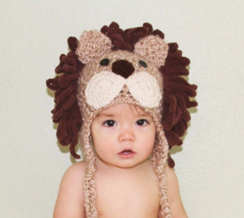6ab47ef84 Baby Hats Lion Hat Baby Lion Hat Boy Lion Costume Hat | Etsy