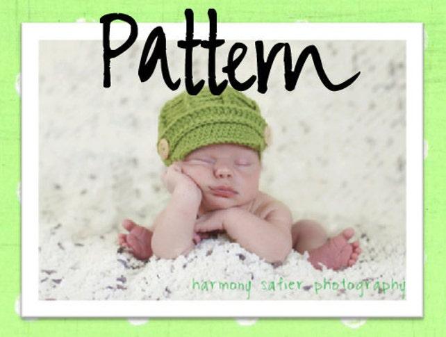 PDF Newsboy Hat PATTERN Baby Newsboy Hat Crochet Pattern   Etsy