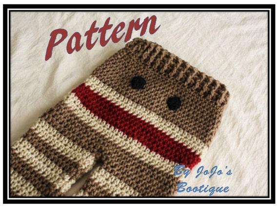 Pattern Crochet Monkey Baby Pants Pattern Baby Monkey Etsy