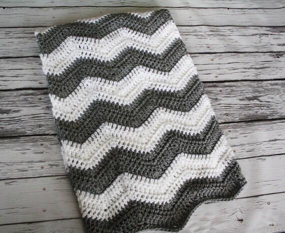 Pdf Pattern Tri Color Chevron Baby Blanket Instant Etsy
