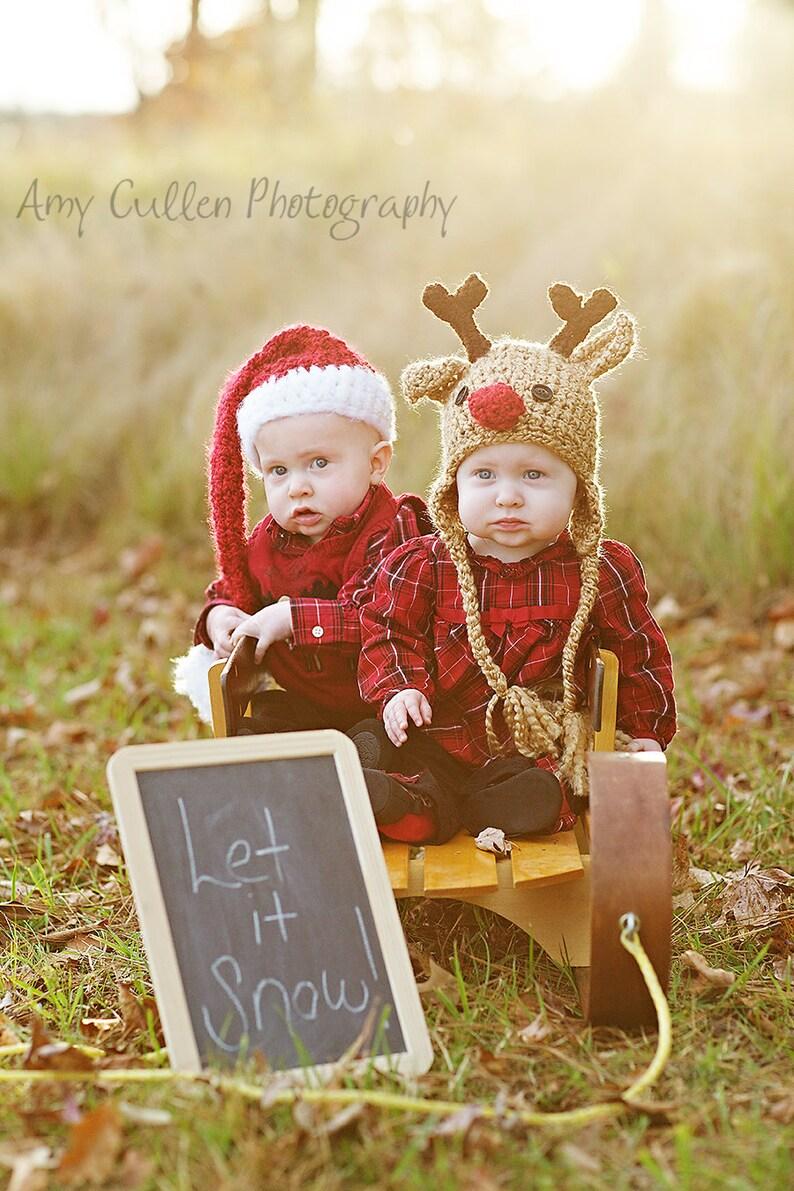 17263a2135ae1 Oatmeal Reindeer Baby Hat Reindeer Hat Baby Reindeer Hat