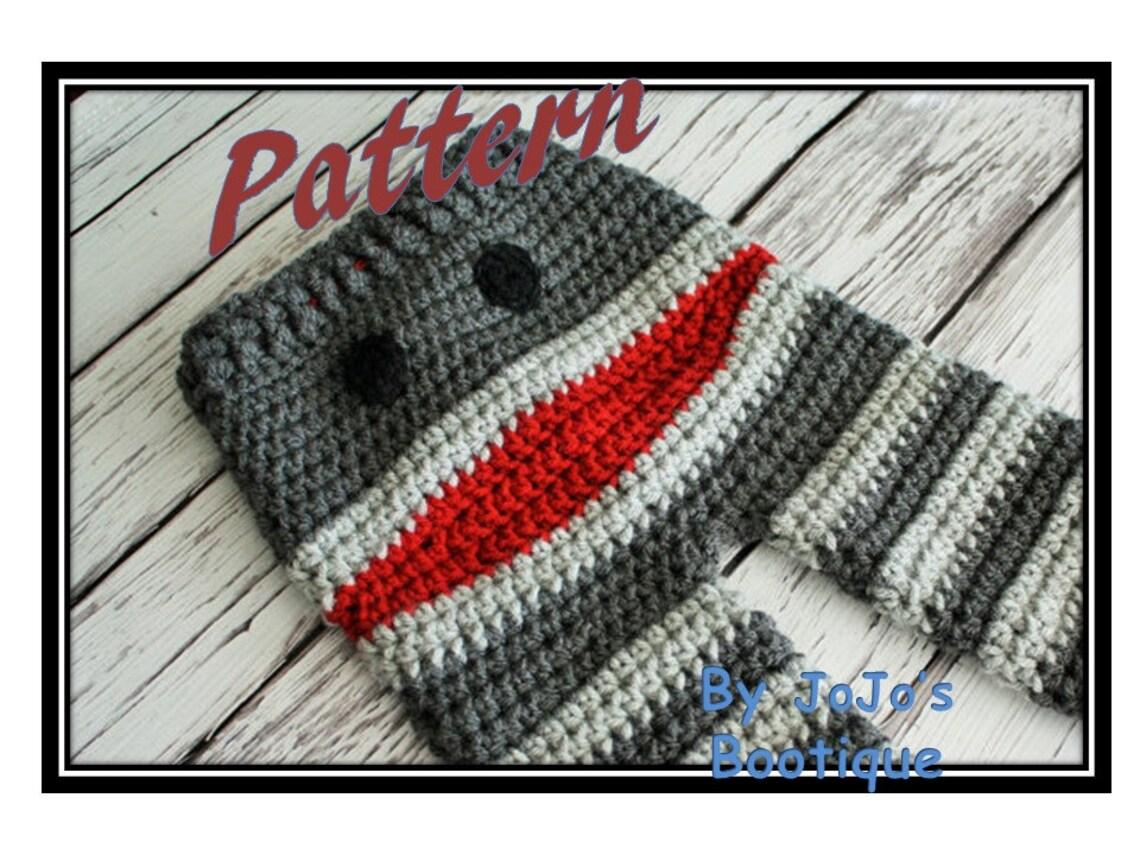 Crochet Monkey Baby To Toddler Pants Pattern Newborn To 4t Etsy