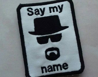 Heisenberg patch, silhouette,  Breaking Bad, Walter White, Jesse Pinkman, UK made