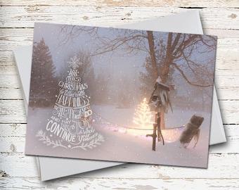 Christmas Greeting, Christmas Card, Snow Scene, Winter Scene, Serene Scene, Merry Christmas, Holiday Greeting, Winter Greeting, December