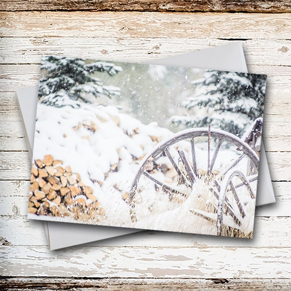 Christmas Card White Christmas Old Fashioned Christmas Etsy