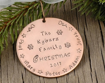 Personalized Family Christmas Ornament Family Names Christmas 2017