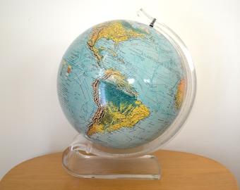 Wereldbol Met Licht : Scan globe etsy