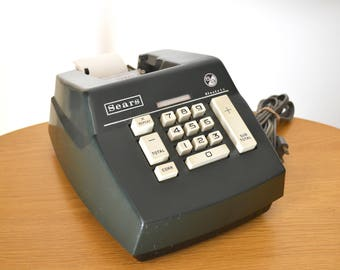 Vintage Sear 8/9 Adding Machine. Mid Century Office