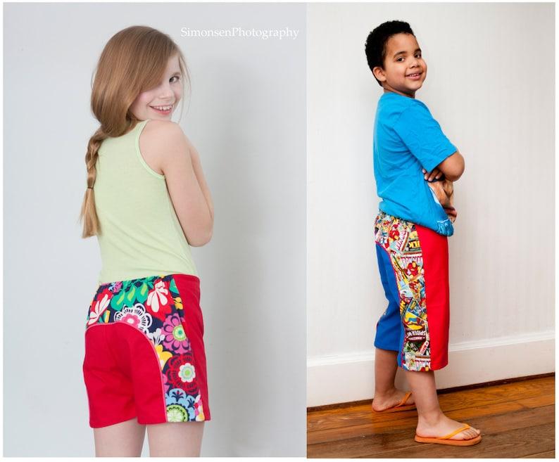 Long Beach Board Shorts pattern boys girls unisex 3-6m 6-12m image 0