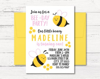 bee invitations etsy