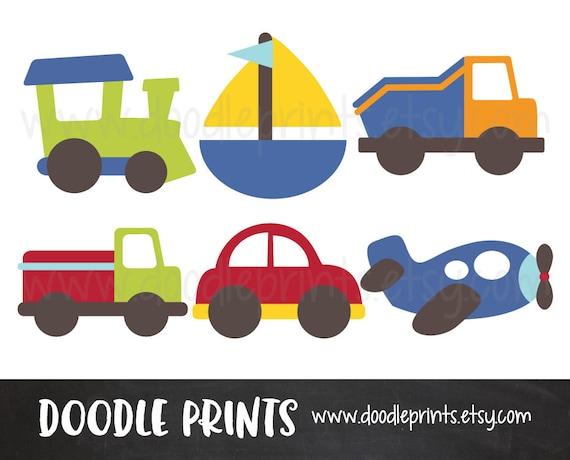 Cars Clipart, Digital Scrapbook Clip Art Printable