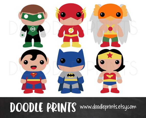 Super Hero Clipart Design Heroes Digital Clip Art Printable Batman