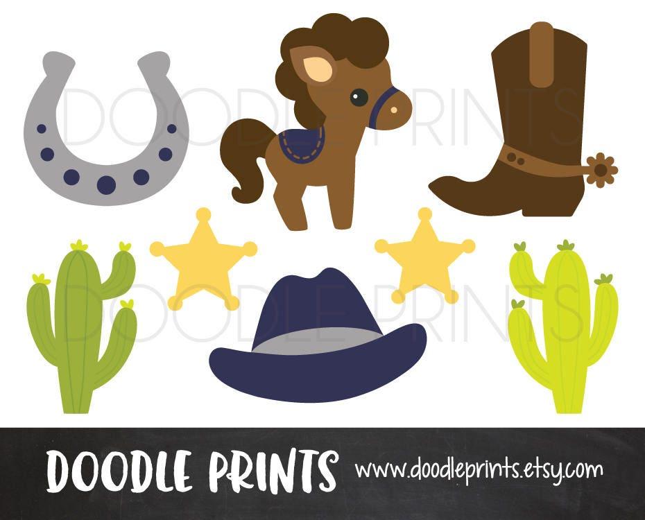 Cowboy Clipart Digital Clip Art Printable Cowboy Western