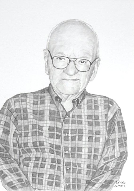 Custom miniature portrait drawing grandparents