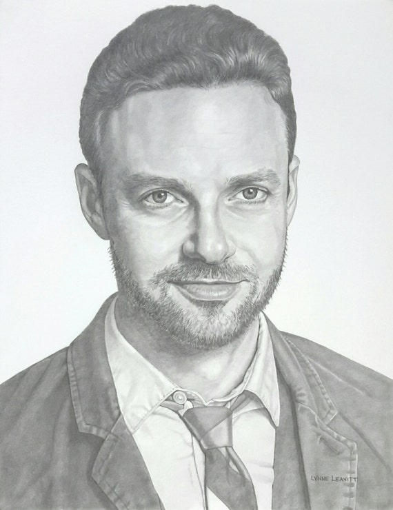 Ross Marquand pencil portrait custom drawing commission celebrity