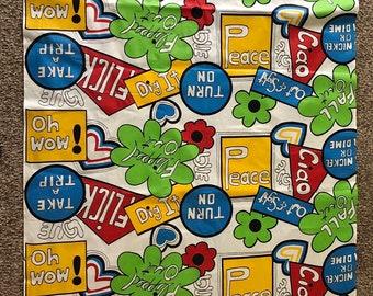 2f9eb5189990 Hippie Summer of  69 vintage fabric