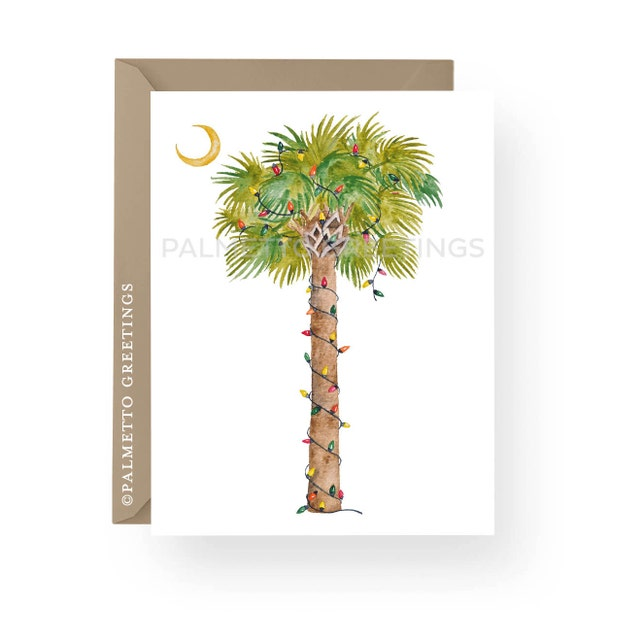 Set Of 100 A2 Folded Beach Christmas Cards Thank You Card Palm