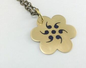 semicolon jewelry, semicolon project, semicolon necklace, strength necklace, positive affirmation jewelry, grammar necklace, motivational