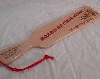 Board Of Education Vintage look Retro Laser Engraved Spanking Paddle