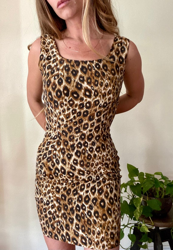 Classic 90s Cheetah mini dress