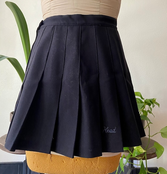 Black Mini Head Tennis Skirt