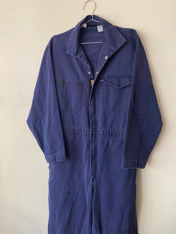 Worksite thrashed Navy Coveralls