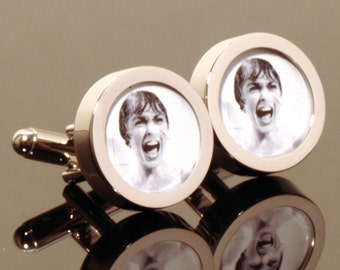 Psycho Movie Cufflinks of Janet Leigh in the Famous Shower Slaughter Scene