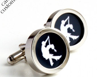 Salsa Cufflinks for Dancing Fans Personalized Colour PC398