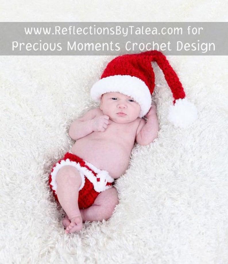54ce3c945 Santa Elf and Diaper Cover SET, Newborn Christmas Set, Baby Christmas Hat  and Diaper Set, Christmas Crochet Newborn Baby PHOTO PROP
