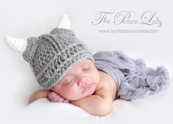 Baby Warrior Hat Newborn Viking Hat Baby Hat Crochet Viking Etsy