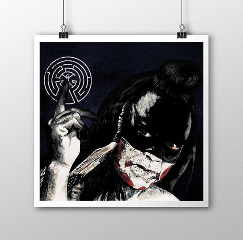 HBO Westworld - Take my heart when you go - Giclee print (21cm x 20cm) -  Akecheta
