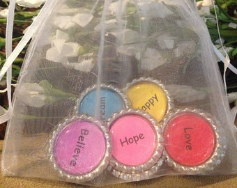 Set of 8 - Stemless Wine Glass Charms - Wine Glass Charms - Fun Wine Glass Charms - Wine Glass Charms With Inspirational Words