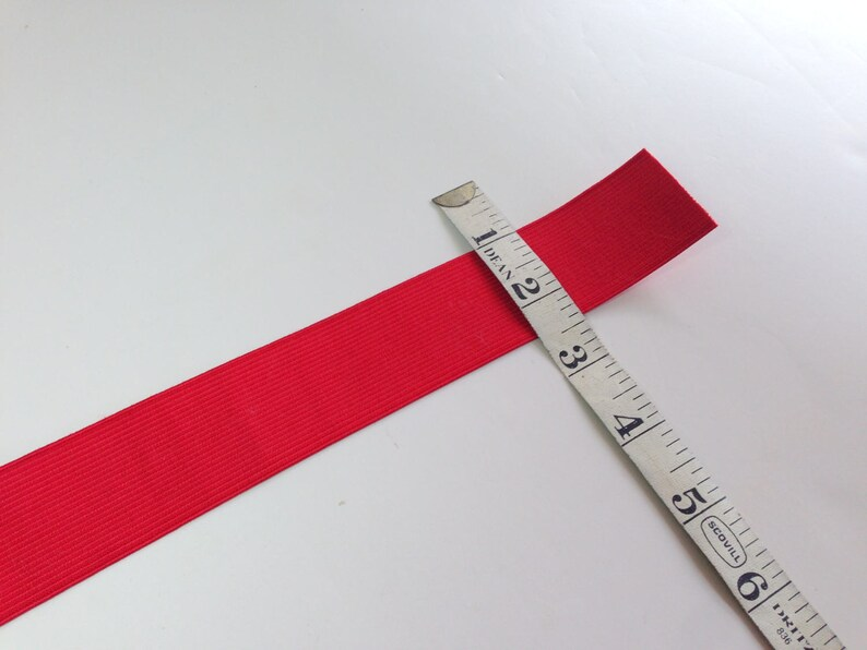 Craft and Sewing Supplies Red Elastic 1 38 Wide Elastic
