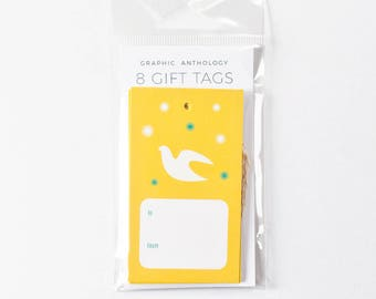 Gift Tags | Dove Tags + Baker's Twine | Xmas | Scandi Inspired Christmas Gift Wrap | Set of 8