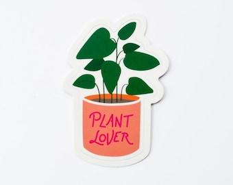 Plant Lover sticker | houseplant | potted plant | kiss-cut vinyl sticker