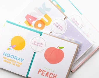 Greeting Card Grab Bag | Assorted occasion bundle | 60% off retail pricing + FREE SHIPPING!
