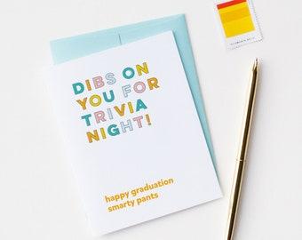 Graduation Card | Trivia Night | Happy Graduation | Graduate