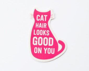 Cat Hair sticker | Funny | cat love | die cut vinyl decal