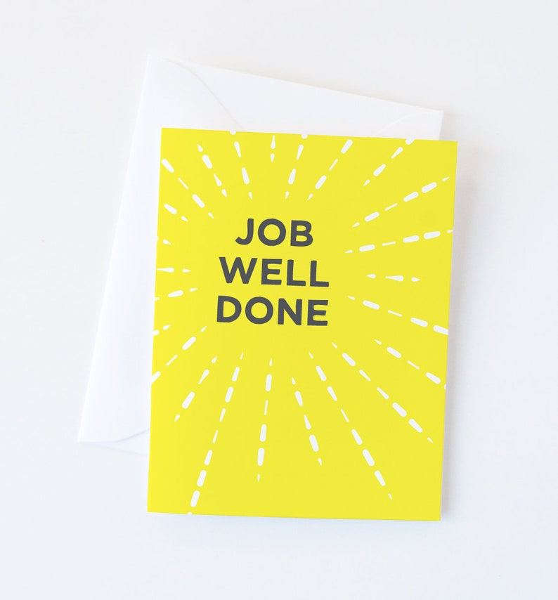 Congratulations Card | Job Well Done Greeting Card | Graduation Card