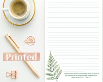 PRINTED 1 Peter 5:6-7 | JW Letter Writing Stationary | Anxiety | Improve Life | Make Life Better magazine | English Spanish