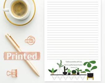 PRINTED Colossians 3:14 | JW Letter Writing Stationary | Love Unity | Prejudice magazine | English
