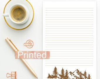 PRINTED JW Letter Writing Stationary Fall Autumn mountain silhouette theme BLANK